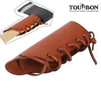 Leather Axe Collar Guard Holster Haft Ax Handle Holder Protector Outdoor-TOURBON