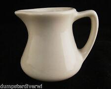 "small White handle surup Milk Creamer 2.5"" Hall China vintage restaurant ware"