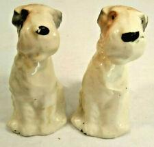 Vintage Salt & Pepper Shakers Fox Terrier Made in Japan
