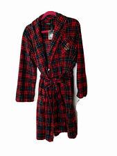 NWT RALPH LAUREN  Women's Robe USSize Medium Red Green Plaid Fleece Short Length