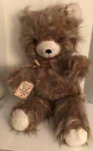 "1978 RUSHTON Not Rubber Faced Plush Bear Huge 28""  Someone You Love Needs"