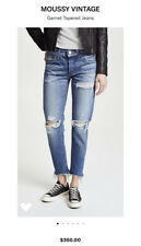 Moussy Vintage Garnet Tapered Jeans Size 26 Distressed Retails $350 !!