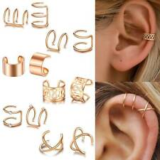 12PCS Ear Clip Cuff Wrap Fake Earring Stud Hoop Non Piercing Cartilage Helix Set