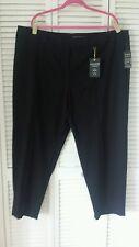 Zac & Rachel Woman size 24W 3X black pants tummy control curvy short length, new