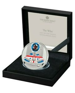 NEW* 2021 The Who Colour-Printed Silver Proof 1oz One Ounce - Music Legends