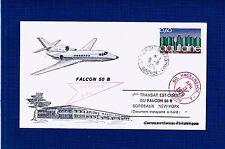 FDC-FALCON 50 B-DASSAULT-MÉRIGNAC-BORDEAUX-1er VOL-BORDEAUX-NEW YORK-1976