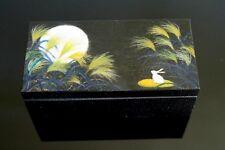 Handmade Artist Wood Lacquered Jewellery Gift storage Box USAGI Rabbit Moon