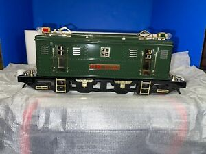 MTH 10-1105-0  Standard Gauge Tinplate Dark Green #9E Locomotive LN