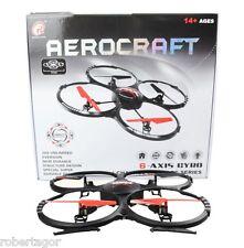 QUADRICOTTERO DRONE RADIOCOMANDATO AEROCRAFT 4CH 6 ASSI 2.4 Ghz VIDEOCAMERA 41CM