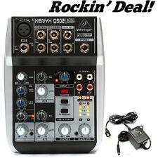 Behringer Xenyx Q502USB XenyxQ502USB Q 502 USB Audio Recording DJ Podcast Mixer