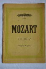 Mozart Lieder Edition Peters Nr. 299a Singstimme mit Klavierbegleitung