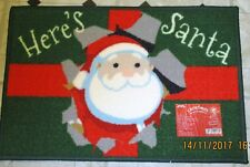 FATHER CHRISTMAS SANTA FESTIVE INDOOR FLOOR PROTECTOR MAT RUG 40 x 60cm