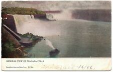 General View of Niagra Falls S1384 Warick Vintage Postcard Toronto Canada 1906