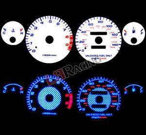 94-01 Acura Integra GSR MT Reverse BLUE El Glow White Gauge