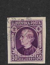 Slovakia 1939,Hlinka Issue,Scott # 29a Imperf,VF Used (AD-St)