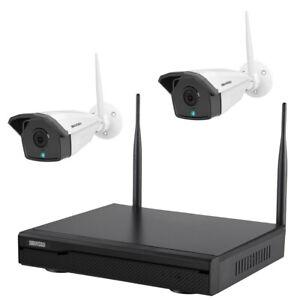 Komplettset Full HD WLAN IP Überwachungsset 2MP Kamera IR Nachtsicht Fernzugriff