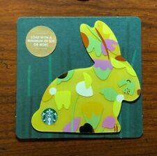 STARBUCKS Gift Card 2018 Die Cut Bunny Rabbit Yellow Happy Easter Egg No $ Value