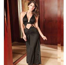 Sexy Ballkleid Abendkleid rückenfrei offen Business Kleid Longtop Cocktailkleid