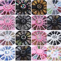 Hot 3D Nail Art Rhinestones Glitters Acrylic Tips Decoration Manicure Wheel DIY