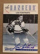 2012-13 Lou Fontinato Auto Classics Signatures