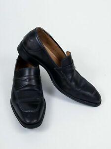 "Mezlan ""Trento"" Black Slip-On Loafers Dress Shoes 8.5 M"