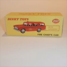 Dinky Toys 257 Nash Rambler Fire Chief Car empty Reproduction box