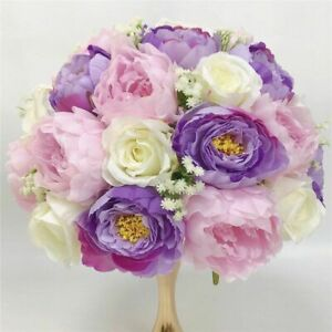 Centerpiece Roses Artificial Flower Table Decorations Gypsophila Hydrangea Party