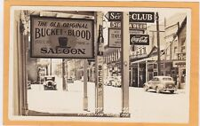 Real Photo Postcard RPPC - Bucket of Blood Saloon Virginia City NV Frasher Photo