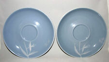 Winfield BLUE PACIFIC Bamboo Vintage Saucers Set of 2 Discontinued