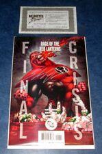 RAGE OF THE RED LANTERNS FINAL CRISIS #1 signed SHANE DAVIS 1st app Atrocitus DC