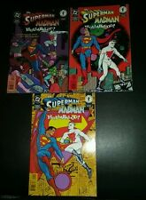 SUPERMAN MADMAN HULLABALOO 1-3 mike allred dc dark horse comic COMPLETE SET 1997