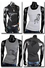 Tattoo ärmellose Herren-T-Shirts aus Baumwolle