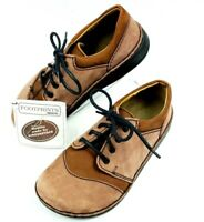 Birkenstock Footprints 34 Womens US 4.5 EUR 35 Brown Leather Lace-Up Narrow NEW
