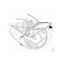 SHAD P0V59T Anclajes soportes fijaciones baul maleta PEUGEOT VIVACITY 50 99