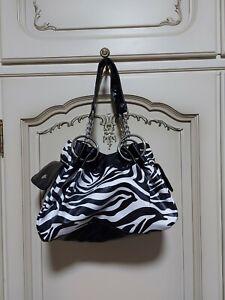 LONI Dschungel Umhänge Schulter Handtasche IN Kunstpelz Tiermuster