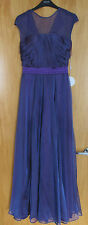 New with Tags eDressit Purple Chiffon A Line Evening Maxi dress Size 6