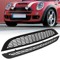 2001-2006 Black Finish Zunsport Compatible With Mini Cooper S R52 /& R53 Full Grille Set