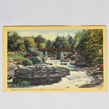 Babcock State Park West Virginia Vintage Curteich Linen Postcard Unposted