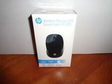 Genuine HP 200 Wireless USB Optical Mouse Black Nano Micro Receiver New Sealed