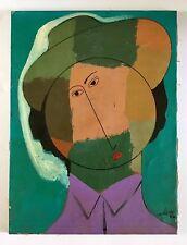 Alberto Ulloa, Signed Original Boy Canvas Painting 1992 Dominican Republic Art
