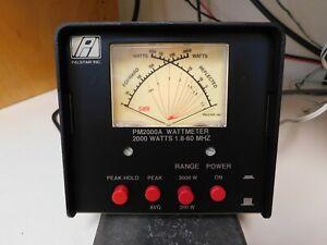 PALSTAR PM 2000A peak reading dual range HF wattmeter/SWR meter PS manual spare