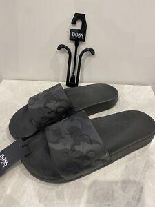 Hugo Boss Sliders Size 7 Brand New #z8