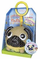 Oshaberi Doubutsu Talking Animal Ball w/Harness Holder keychain Doggy Dog Pug