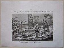 1845 CIMITERO DELL'OCEANIA acquaforte Marmocchi aborigeni cemetery Aboriginal