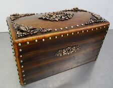 Antike Gründerzeit Schmuckschatulle Schreibzeug Kästchen Schatulle 1880 - 1900