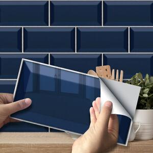 9PCS Bricks Self-Adhesive Bathroom Kitchen Wall Tile Stair Sticker Home Decor