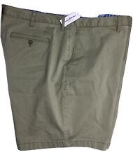 Tommy Bahama Mens Casual Shorts Khaki 48RG Cotton Tencel Spandex NEW