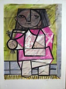 Pablo Picasso Lithographs Limited Edition of 500, Enfant en Pied, Cubism