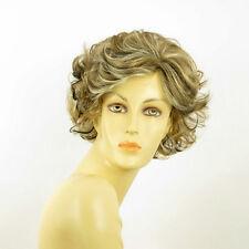 Perruque femme méchée courte blond clair méché cuivré chocolat JULIETTE 15613H4