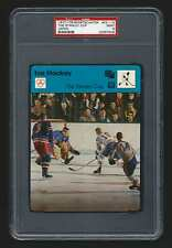 PSA 9 THE STANLEY CUP with EDDIE GIACOMIN Sportscaster Hockey Card #02-13 JAPAN